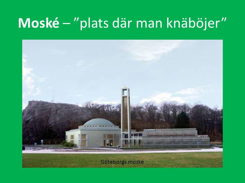 Moské – plats där man knäböjer Göteborgs moské