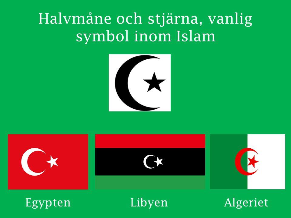 Halvmåne och stjärna, vanlig symbol inom Islam EgyptenLibyenAlgeriet
