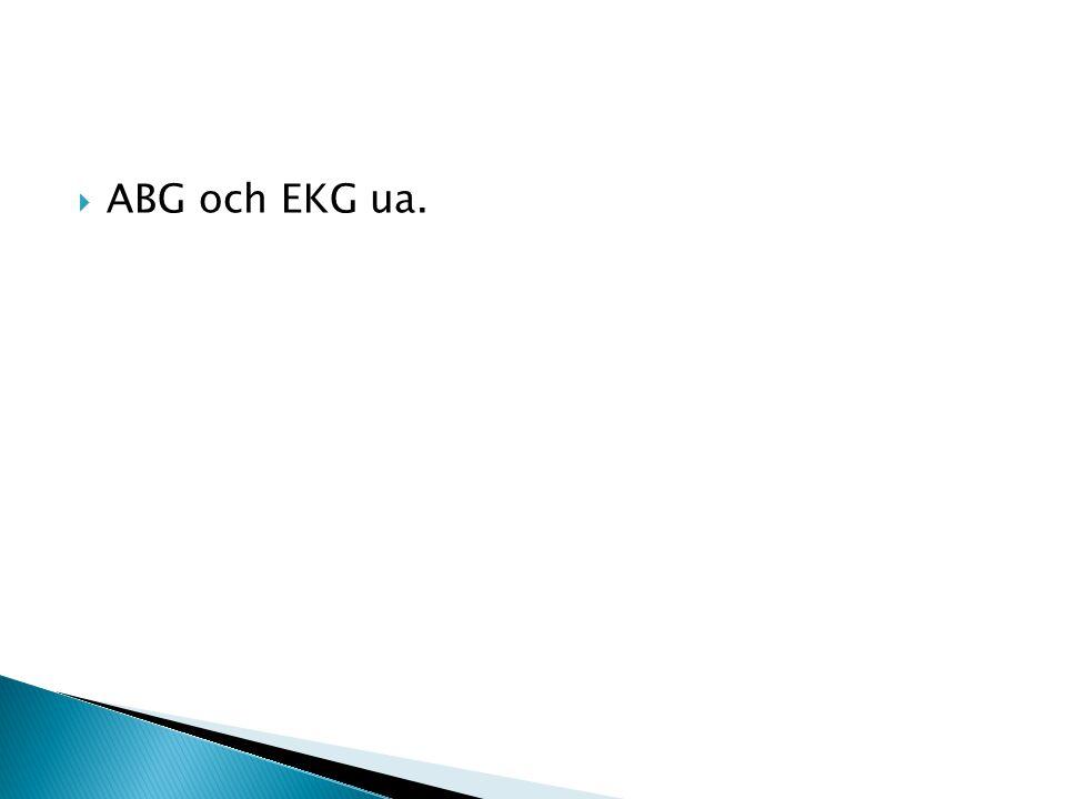  ABG och EKG ua.