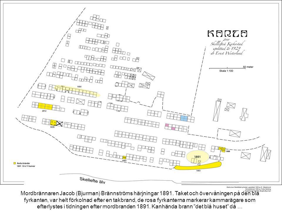 Mordbrännaren Jacob (Bjurman) Brännströms härjningar 1891.