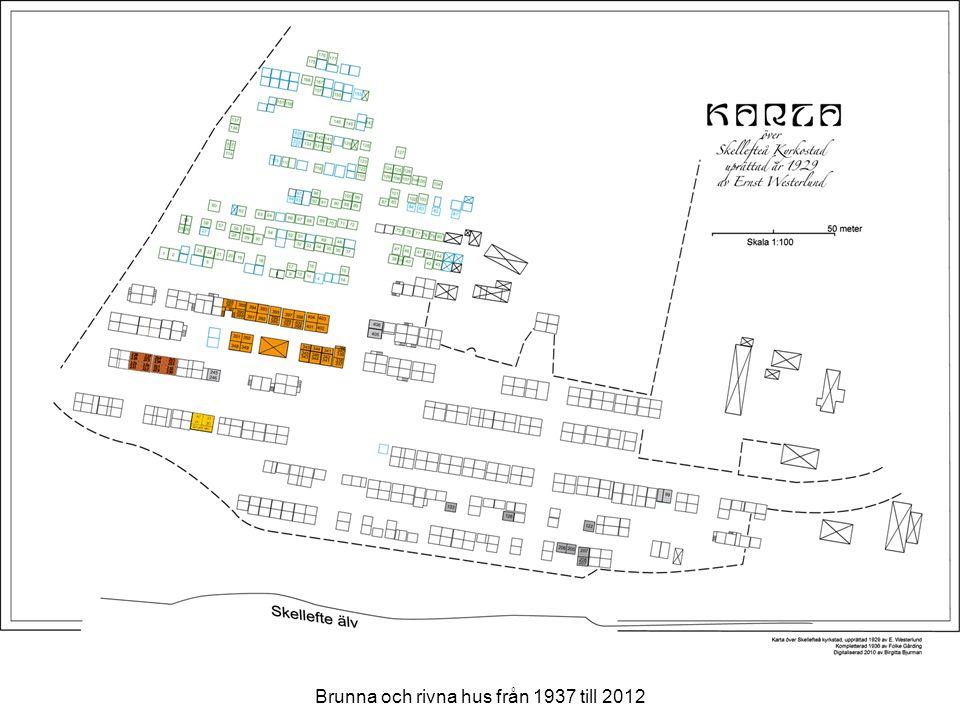 Brunna och rivna hus från 1937 till 2012