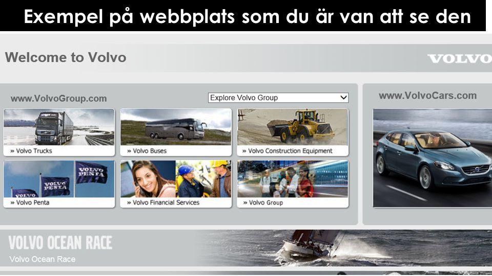 Exempel på webbplats som blinda ser den