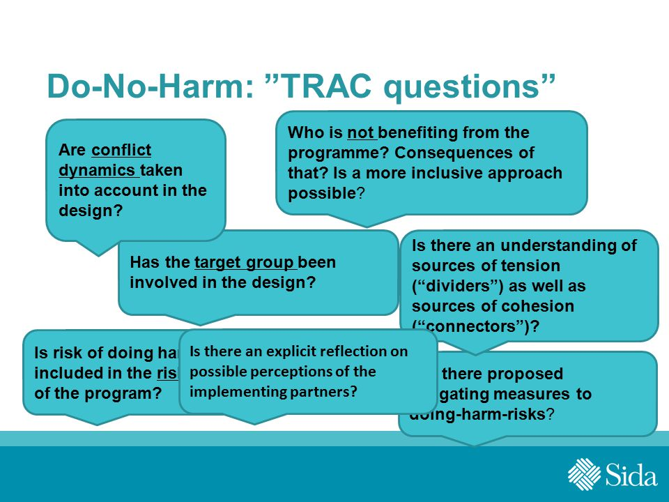 Do-No-Harm: TRAC questions Who is not benefiting from the programme.