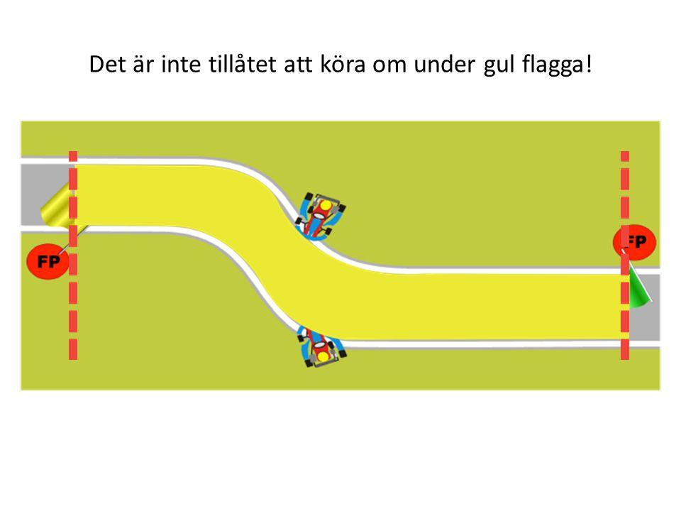 Det är inte tillåtet att köra om under gul flagga!