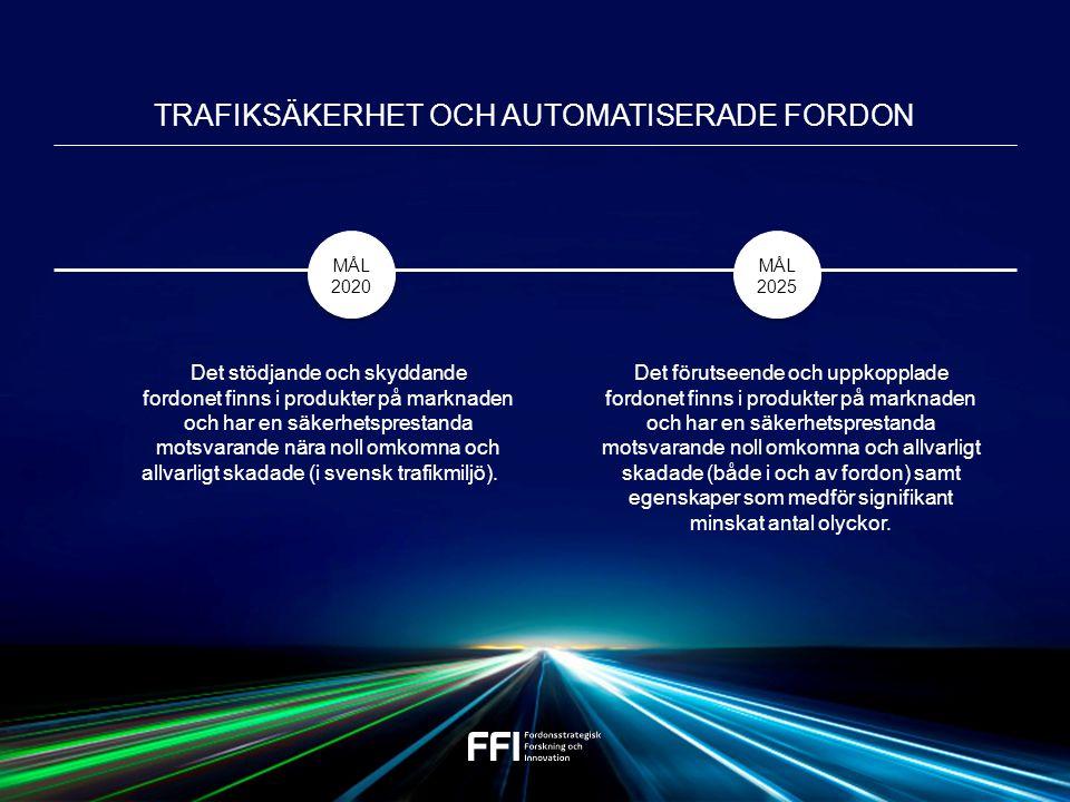 Det stödjande och skyddande fordonet finns i produkter på marknaden och har en säkerhetsprestanda motsvarande nära noll omkomna och allvarligt skadade (i svensk trafikmiljö).