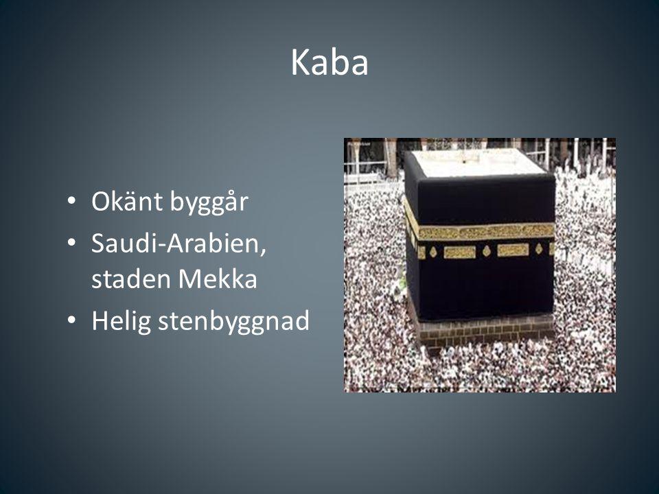 Kaba Okänt byggår Saudi-Arabien, staden Mekka Helig stenbyggnad