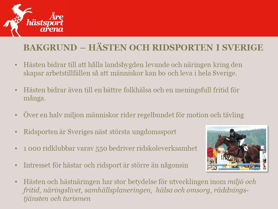 Hästen bidrar till att hålla landsbygden levande och näringen kring den skapar arbetstillfällen så att människor kan bo och leva i hela Sverige.