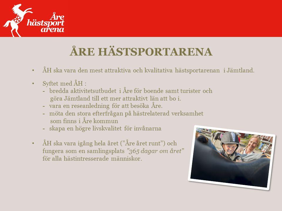 ÅH ska vara den mest attraktiva och kvalitativa hästsportarenan i Jämtland.