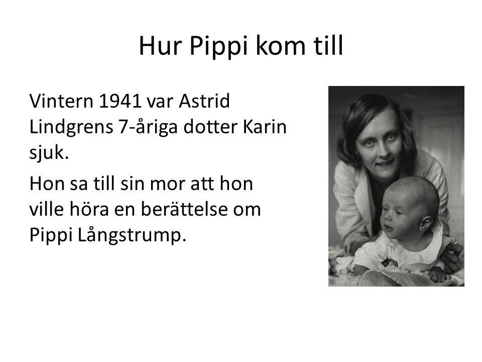 Bokförlaget Bonniers ville inte ge ut Pippi Långstrump.