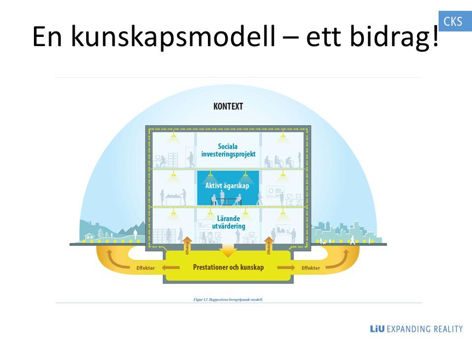 En kunskapsmodell – ett bidrag!