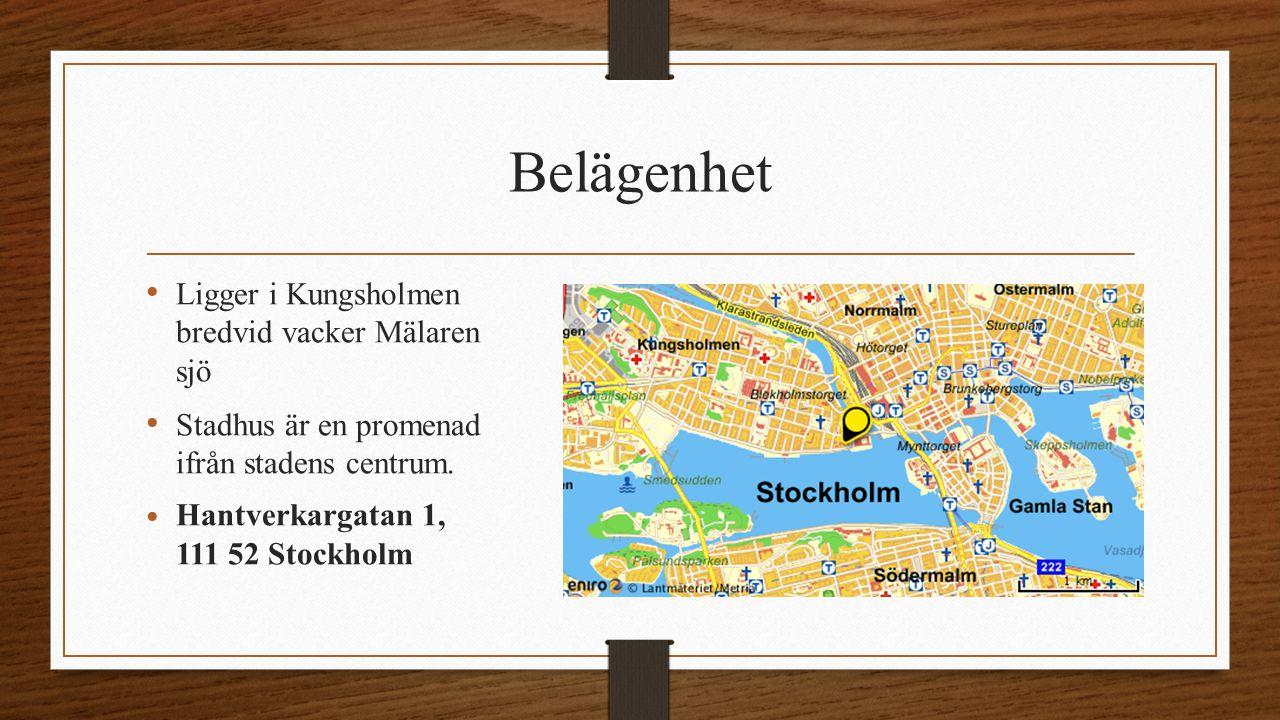 Belägenhet Ligger i Kungsholmen bredvid vacker Mälaren sjö Stadhus är en promenad ifrån stadens centrum.