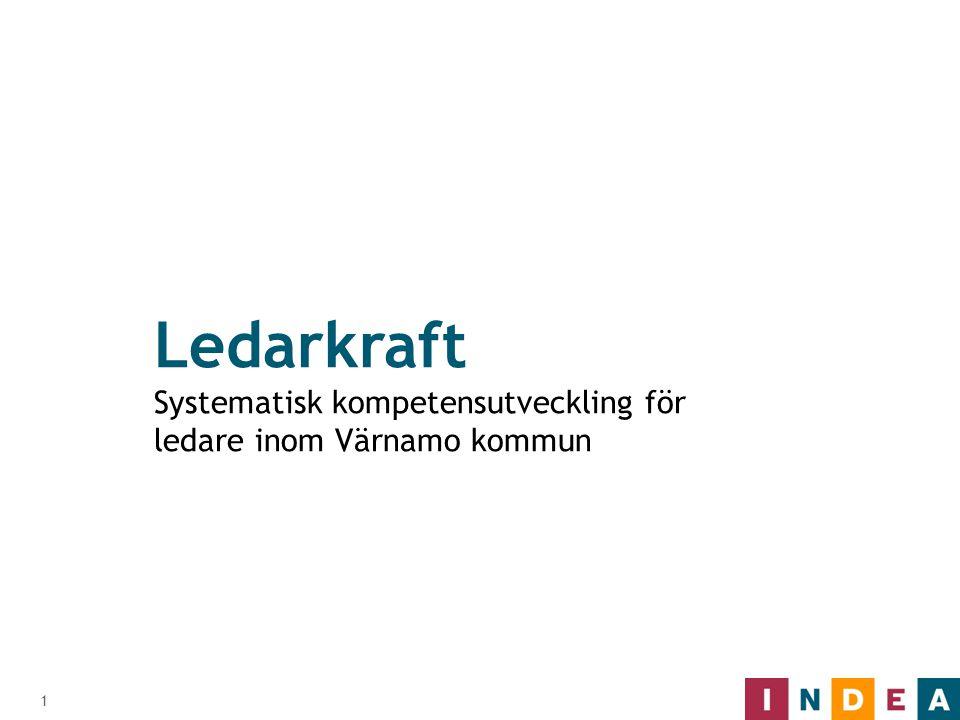 1 Ledarkraft Systematisk kompetensutveckling för ledare inom Värnamo kommun