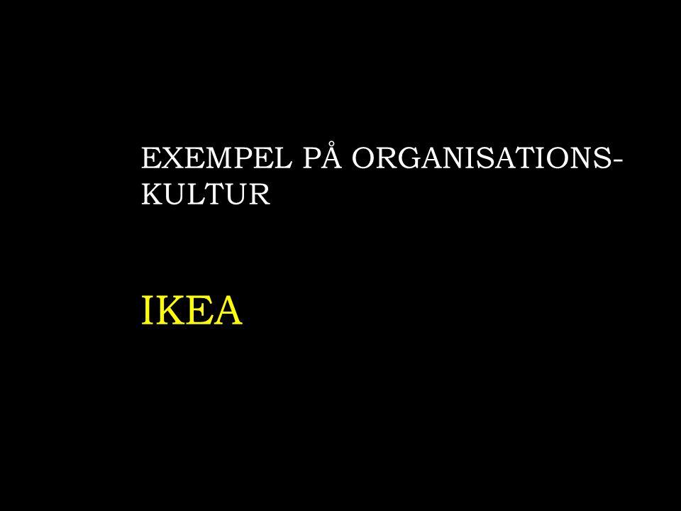 EXEMPEL PÅ ORGANISATIONS- KULTUR IKEA