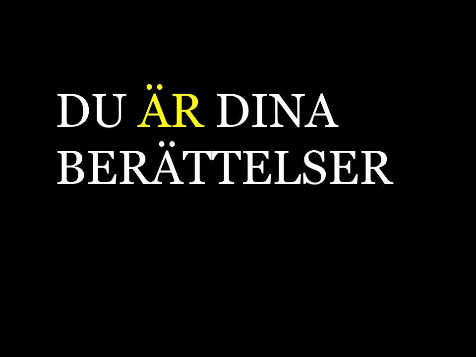 DU ÄR DINA BERÄTTELSER