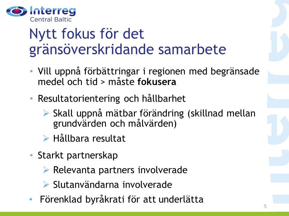 +Satakunta +Pirkanmaa Programgeografi 2014-2020 18 regioner samt 9 närliggande regioner Ca 10,5 miljoner invånare i programområdet Core areas Additional areas Sub-programmes