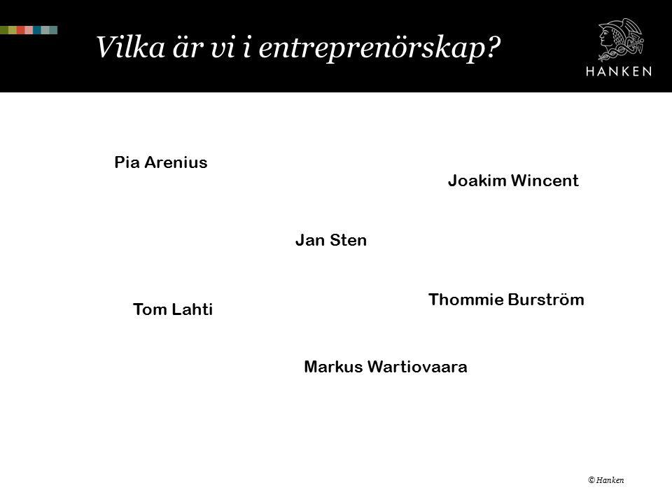 Vilka är vi i entreprenörskap.