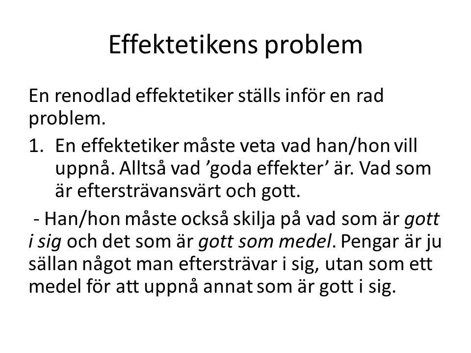 Effektetikens problem 2.
