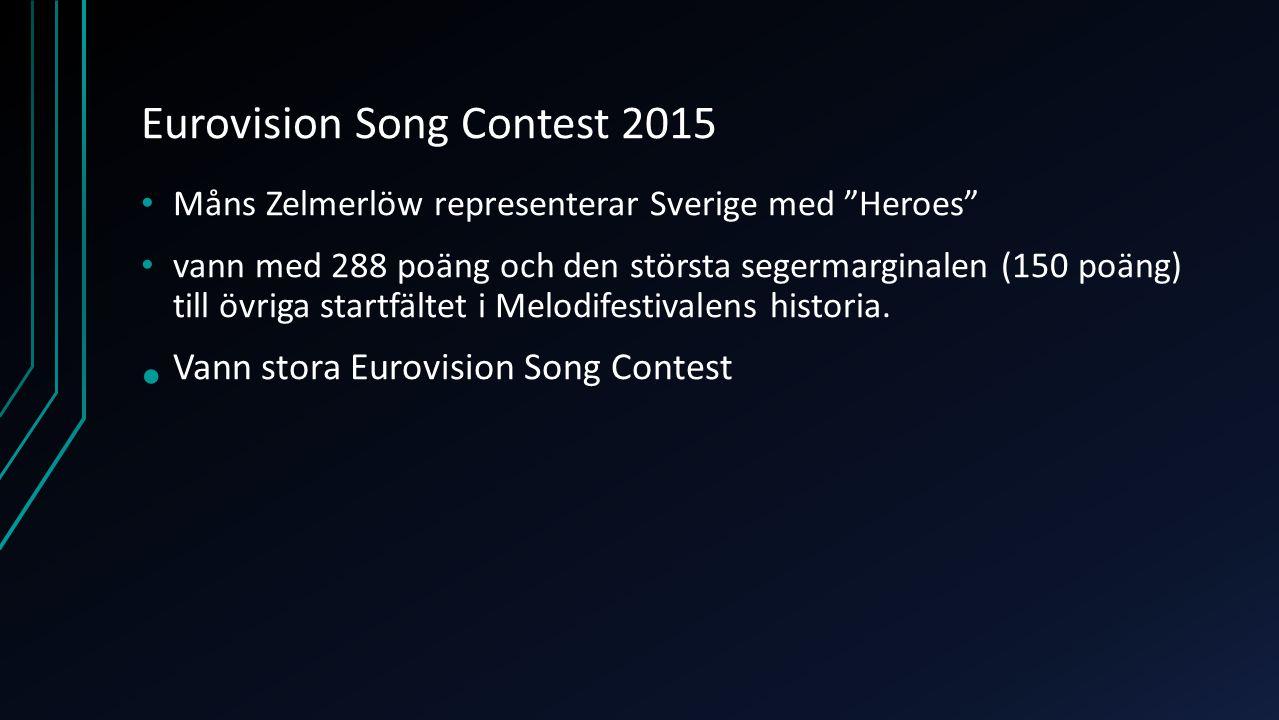 Sammanfattning född 13 juni 1986 i Lund Artist, programledare och musikalartist Idol 2005 Vann Let´s Dance 2006 Melodifestivalen 2007 (Cara Mia) och 2009 (Hope and glory) 2011-2013 Allsång på Skansen Representerade Sverige i Eurovison med låten Heroes 2015 och vann!