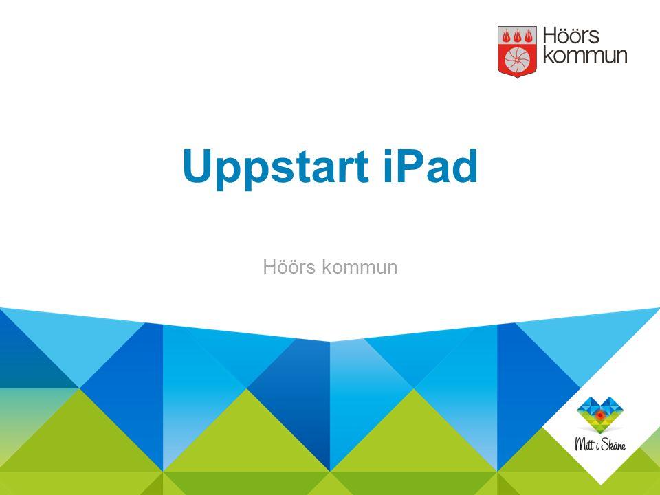 Starta iPaden Knapp ovanpå uppe till höger
