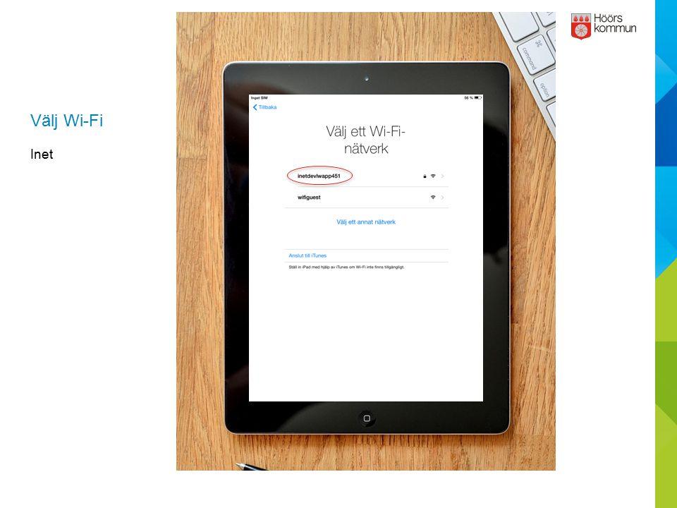 Apple-ID Verifiering Tryck på Bekräfta nu.