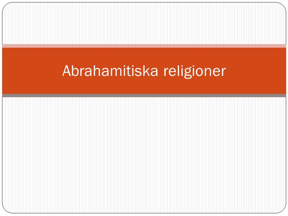 Profeter Judendomen – Mose Kristendomen – Jesus Islam – Mohammed