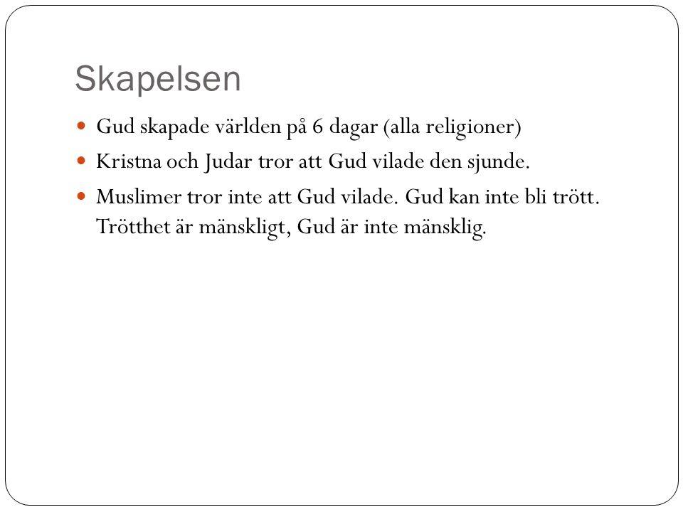 Judendom Högtider: Sabbaten – Vilodag.(Den 7e dagen).