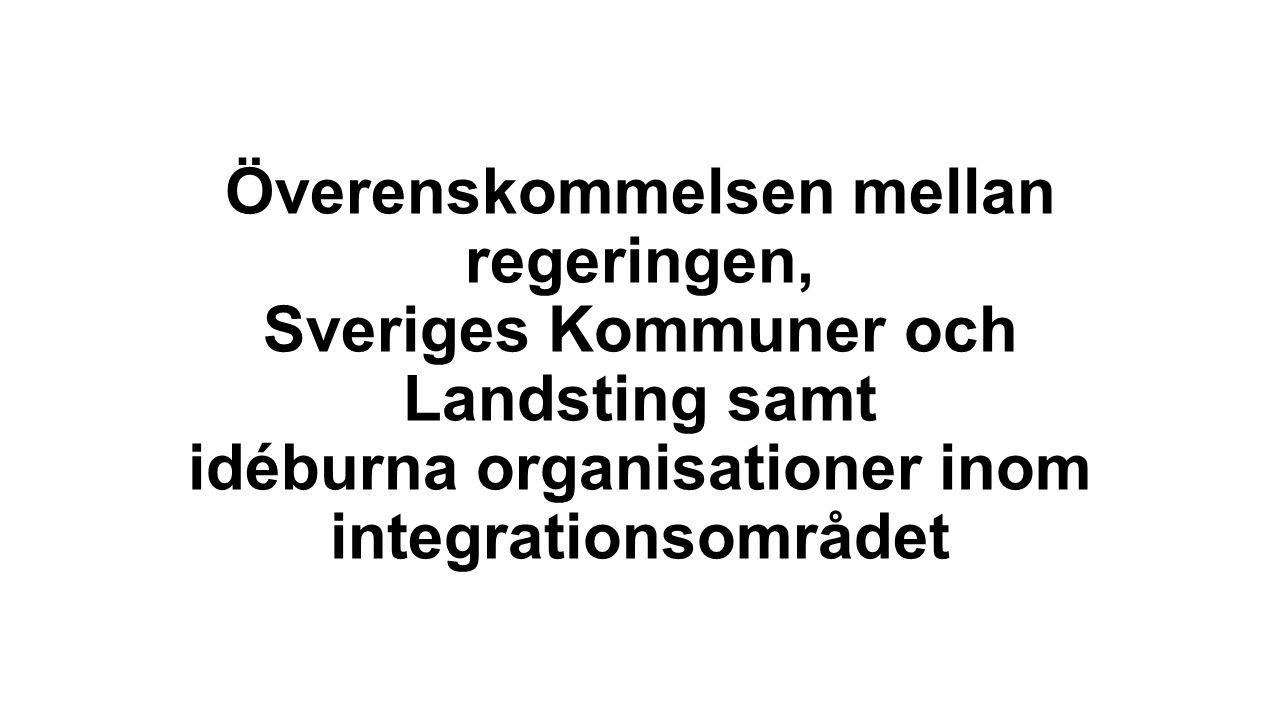Överenskommelsen mellan regeringen, Sveriges Kommuner och Landsting samt idéburna organisationer inom integrationsområdet