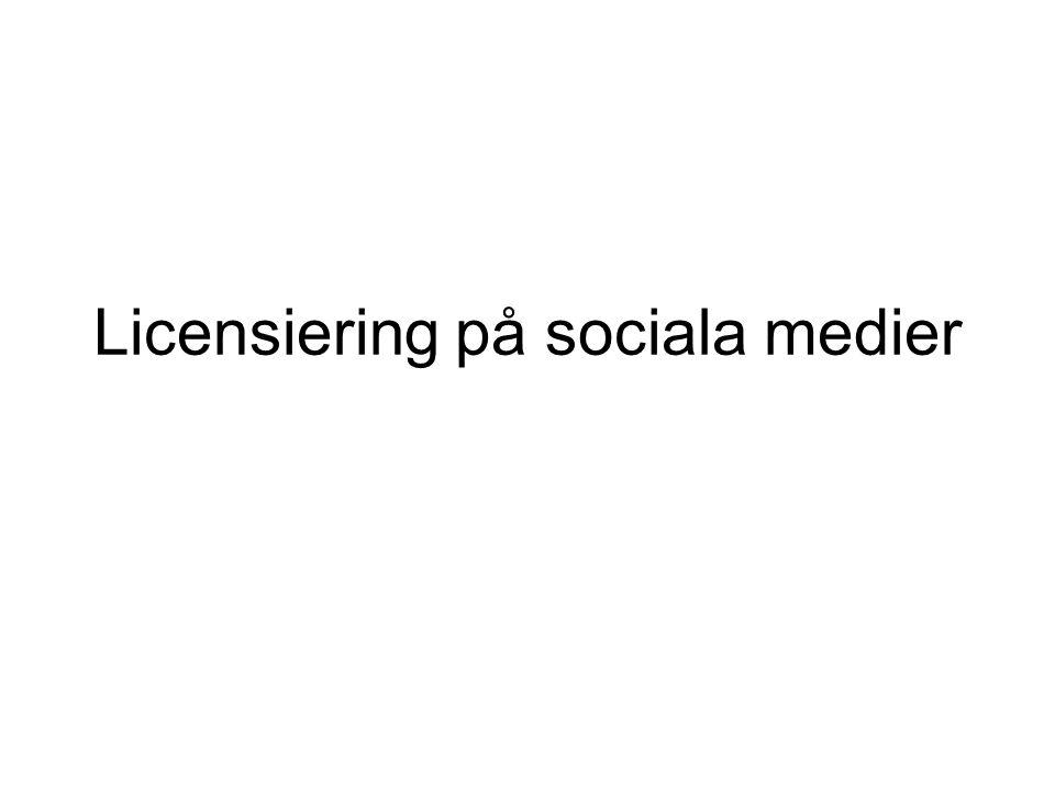 Licensiering på sociala medier