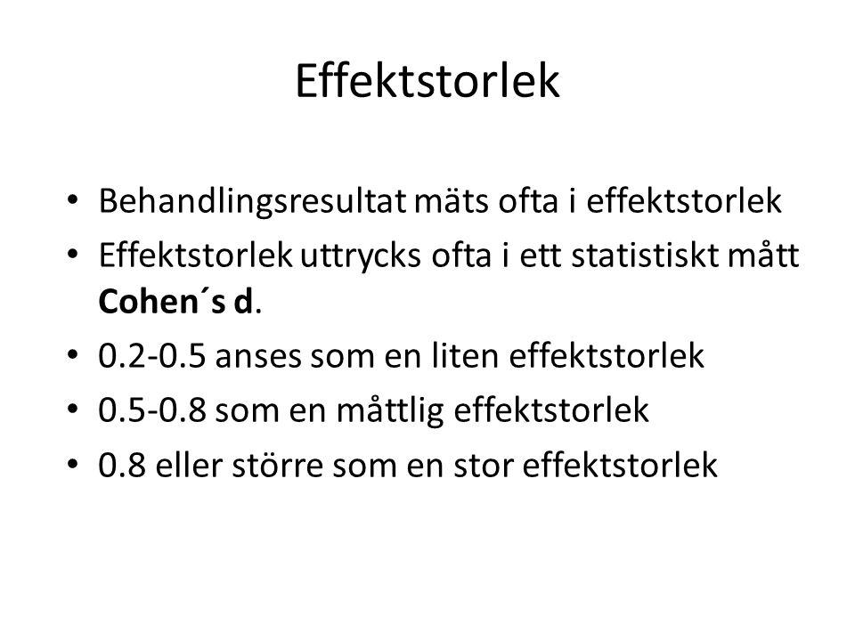 Effect size = M1M2 M 1 - M 2 SD