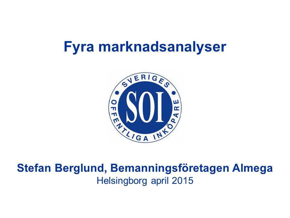Stefan Berglund, Bemanningsföretagen Almega Helsingborg april 2015 Fyra marknadsanalyser