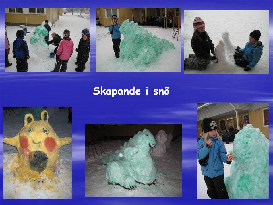 Skapande i snö
