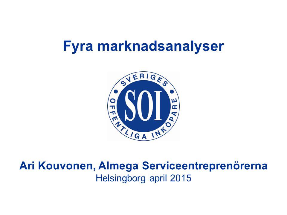 Ari Kouvonen, Almega Serviceentreprenörerna Helsingborg april 2015 Fyra marknadsanalyser