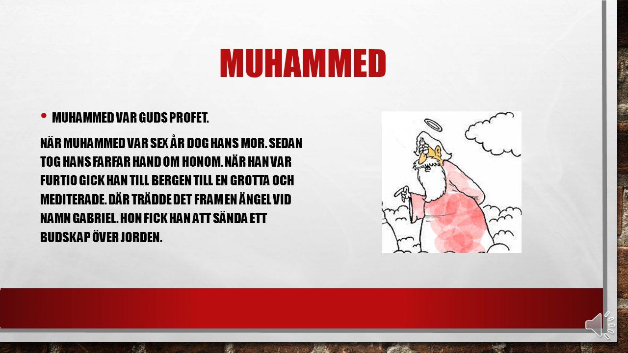 HÖGTIDER DET FINNS TVÅ STORA HÖGTIDER INOM ISLAM.HÖGTIDERNA SKALL FIRAS MED FAMILJ OCH VÄNNER.