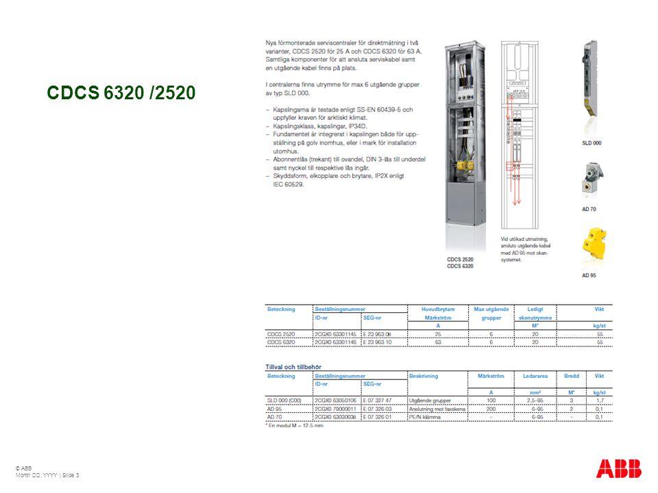 CDCS 6320 /2520 © ABB Month DD, YYYY | Slide 3