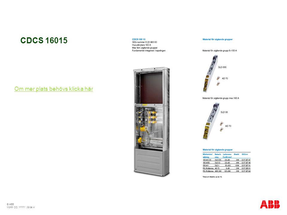 CDCS 16015 Om mer plats behövs klicka här © ABB Month DD, YYYY | Slide 4