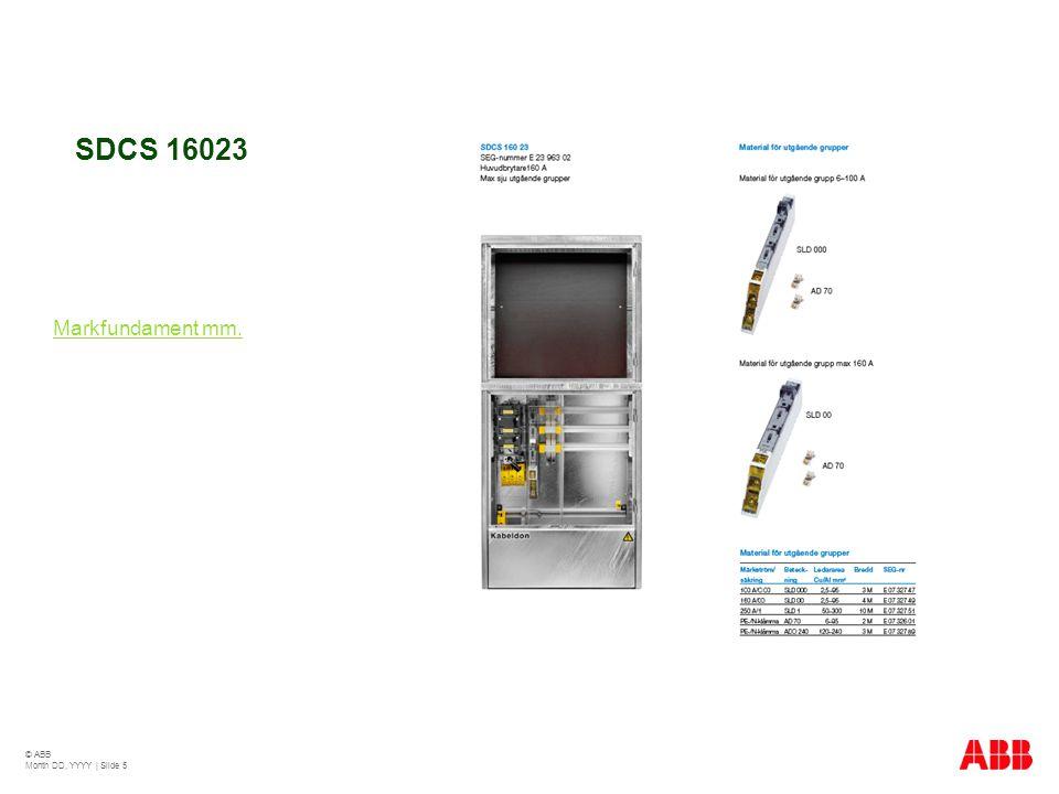 SDCS 25018 Om mer plats behövs klicka här Markfundament mm. © ABB Month DD, YYYY   Slide 6