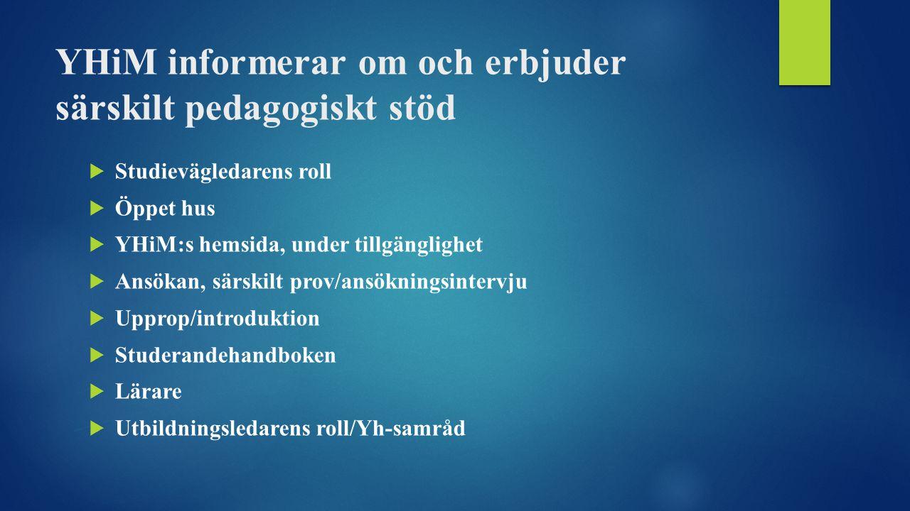 Erfarenheter av studerande som erbjudits särskilt pedagogiskt stöd 1234512345