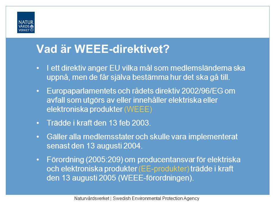 Naturvårdsverket | Swedish Environmental Protection Agency Vad är WEEE-direktivet.