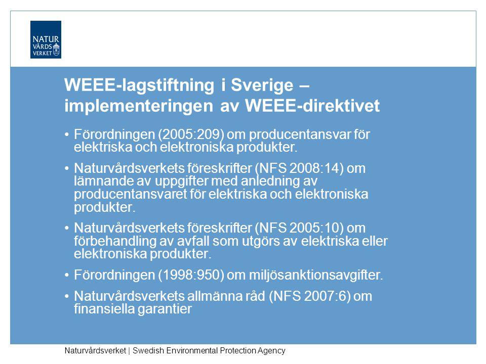 Naturvårdsverket | Swedish Environmental Protection Agency Vad innebär producentansvaret för elektriska och elektroniska produkter.