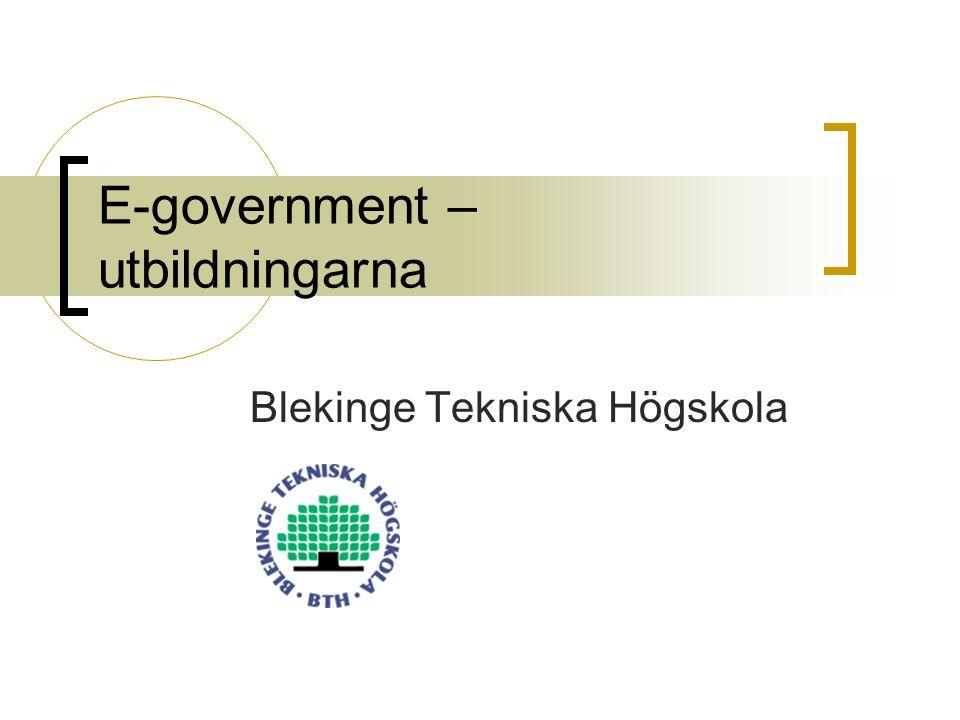 E-government – utbildningarna Blekinge Tekniska Högskola