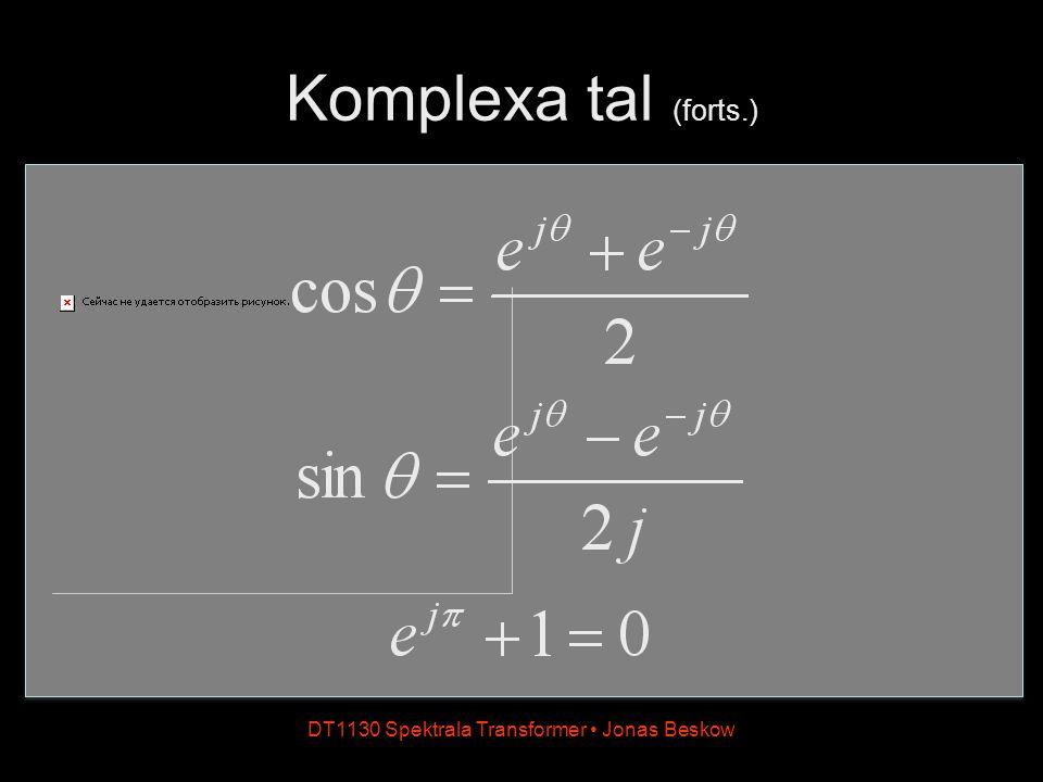 DT1130 Spektrala Transformer Jonas Beskow Komplexa tal (forts.)