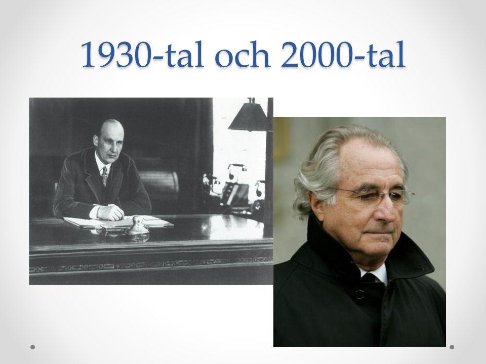 1930-tal och 2000-tal