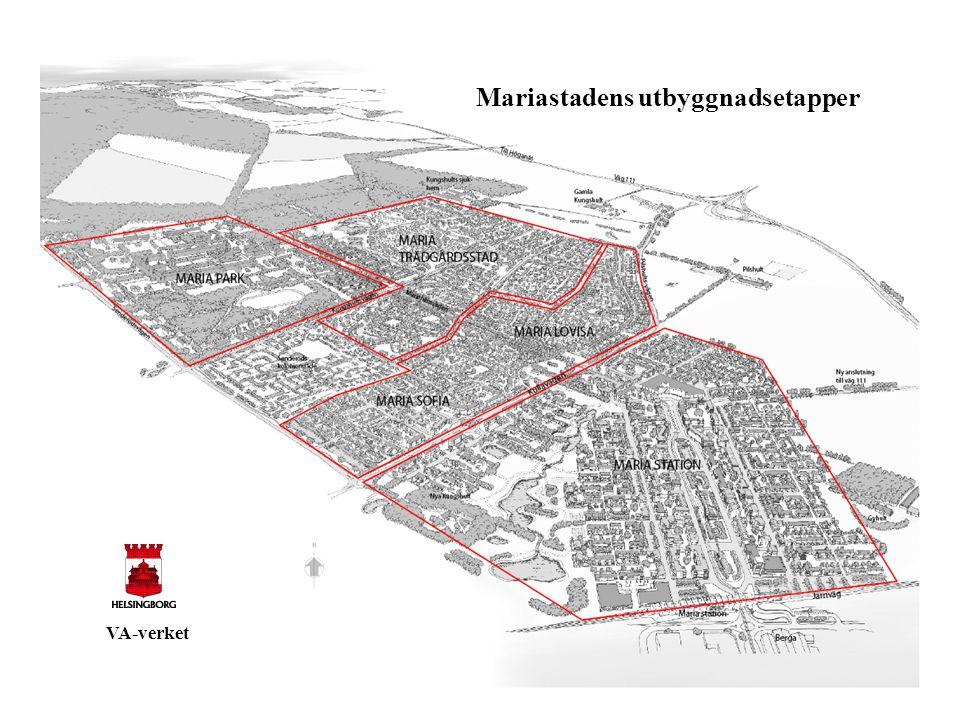 Mariastadens utbyggnadsetapper VA-verket