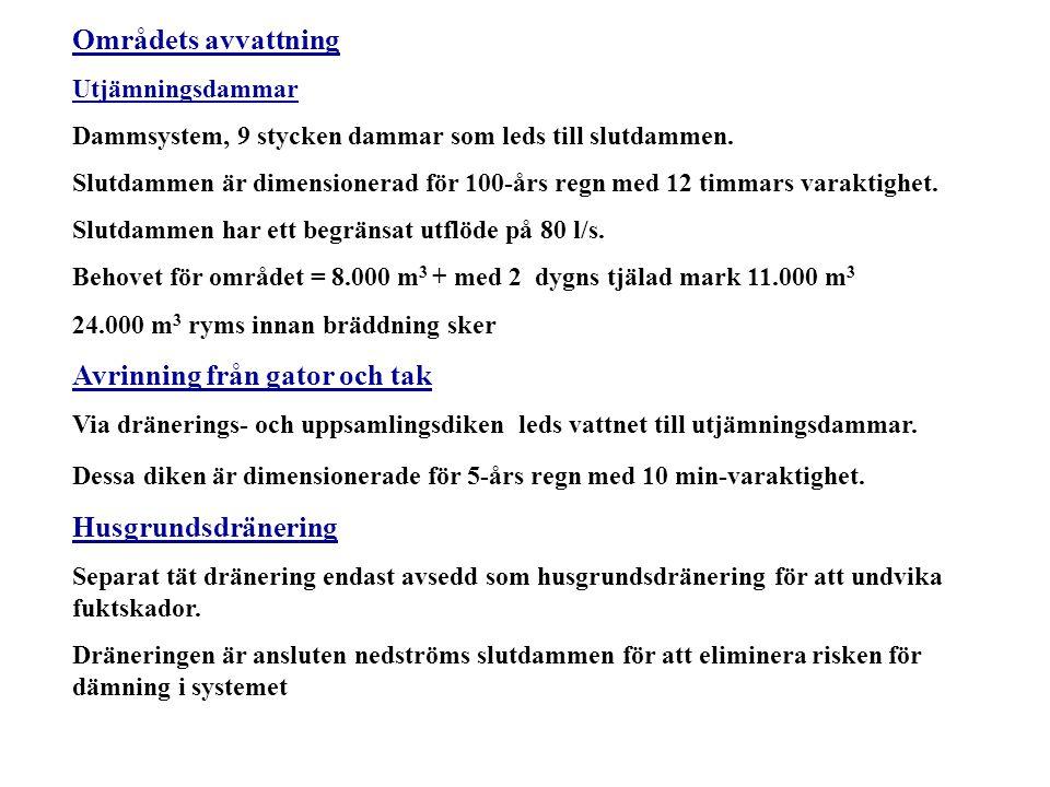 Slutdamm i systemet, dimensionerad för 100-års regn utflöde till Pålsjö bäck via regulator