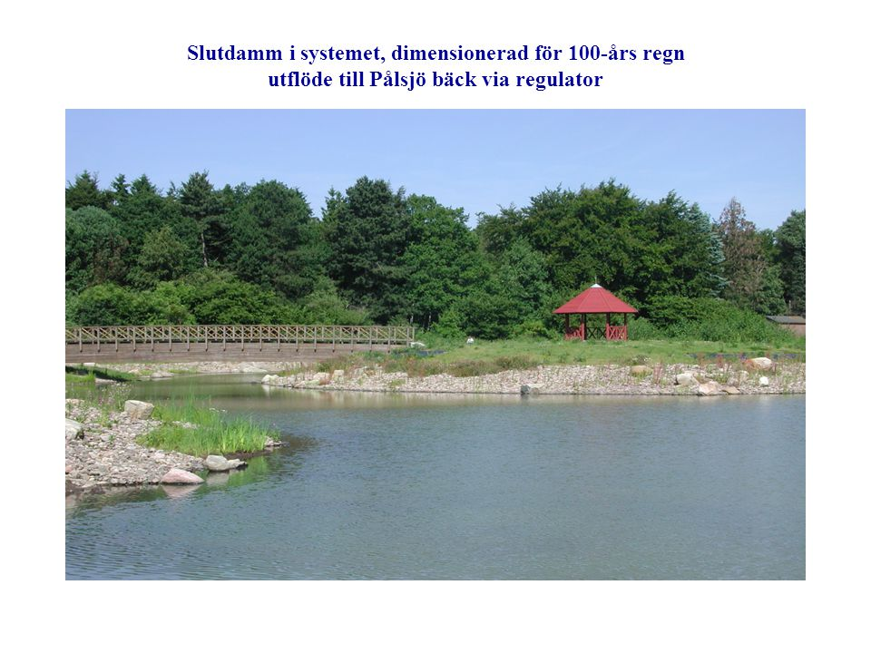 Dagvattendamm i parkområde, ansvar VA-verket