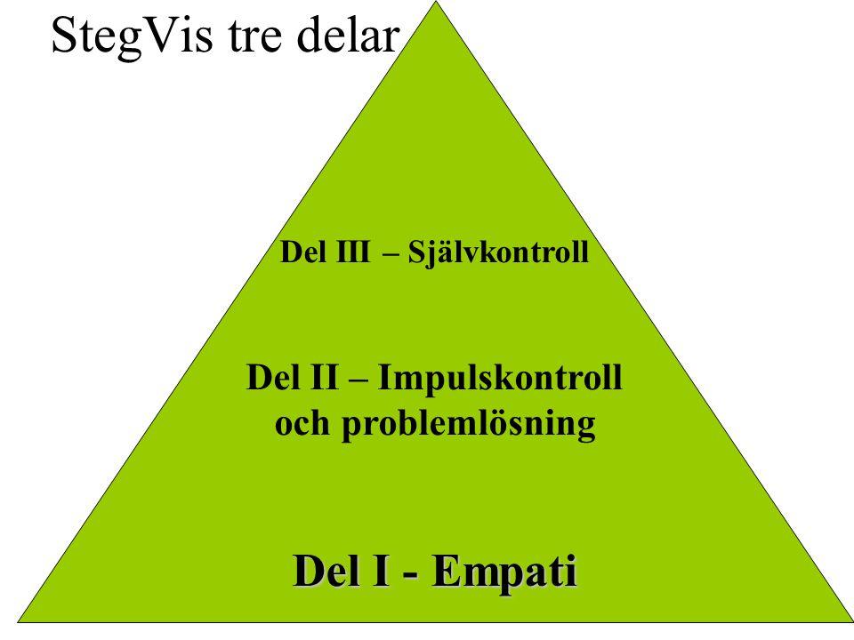 Del III – Självkontroll Del II – Impulskontroll och problemlösning Del I - Empati StegVis tre delar