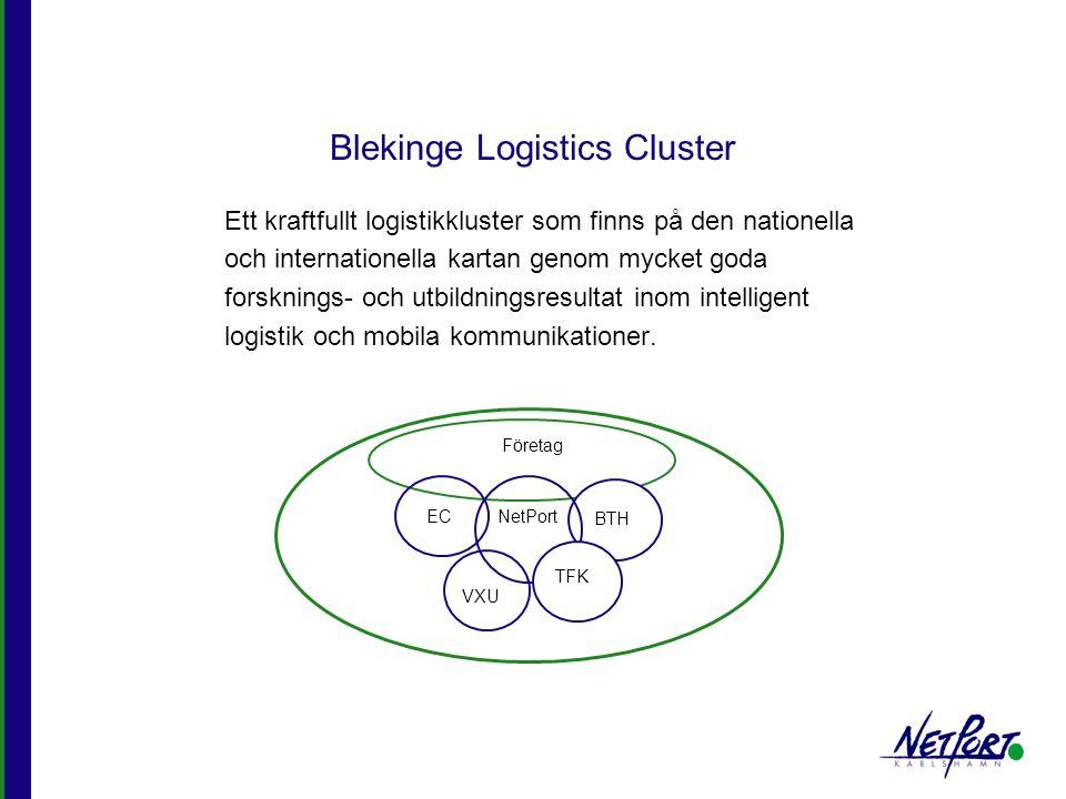 Blekinge Logistics Cluster Ett kraftfullt logistikkluster som finns på den nationella och internationella kartan genom mycket goda forsknings- och utb