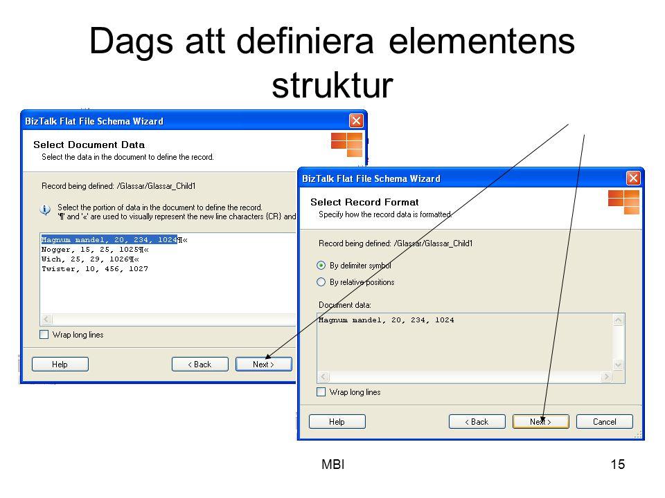 MBl15 Dags att definiera elementens struktur