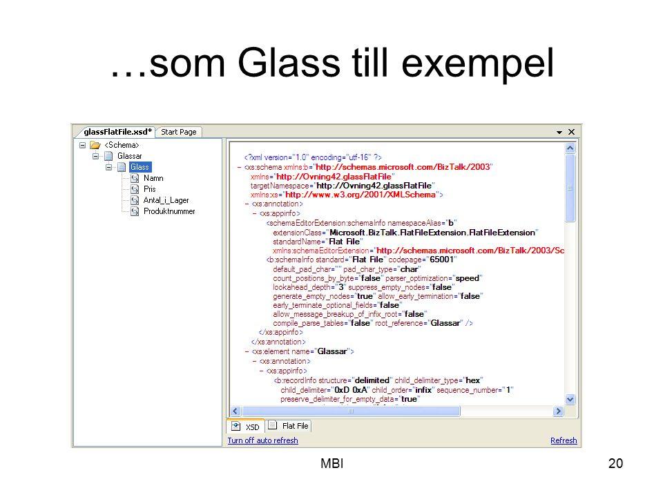 MBl20 …som Glass till exempel