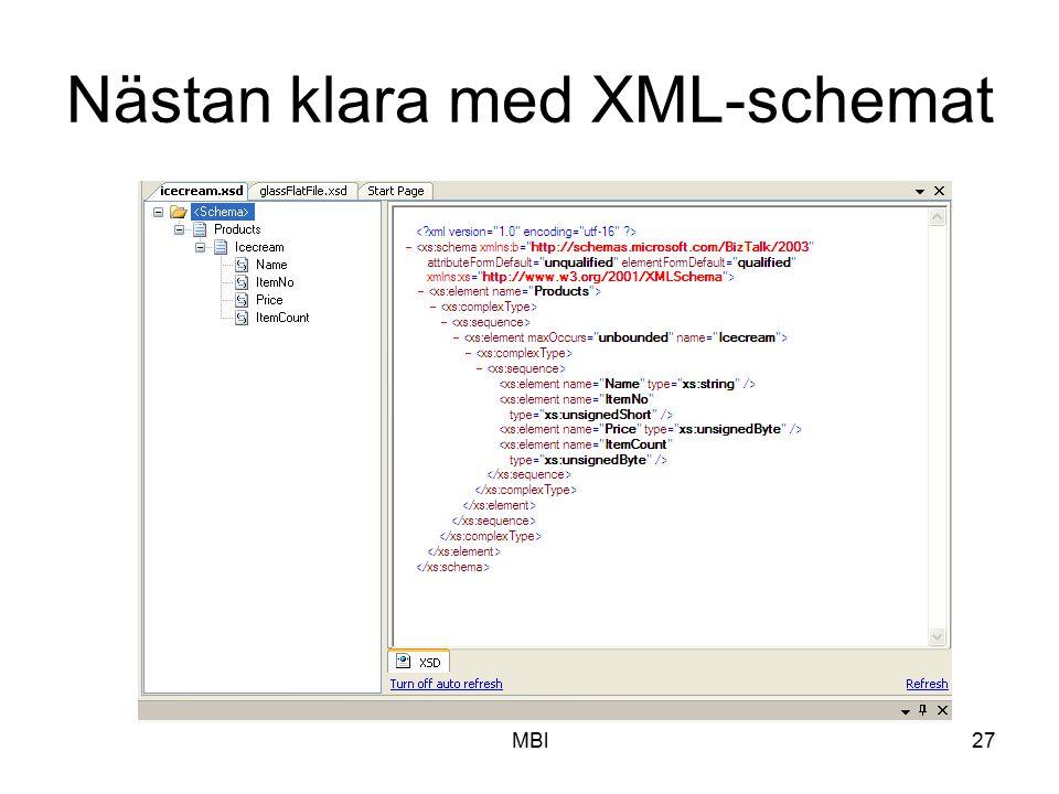 MBl27 Nästan klara med XML-schemat
